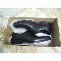 Туфли мужские кожаные, черные, р.42, новые