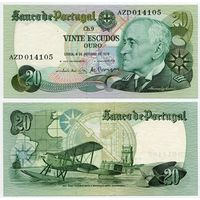 Португалия. 20 эскудо (образца 1978.10.04 года, P176b, подпись 3, aUNC)