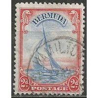 """Бермуды. Яхта """"Lucie"""". 1936г. Mi#92.."""