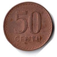 Литва. 50 центов. 1991 г.