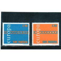 Сан-Марино.  Ми-975, 976. Европа.С.Е.Р.Т. Цепь.1971.