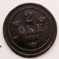 Швеция 2 эре 1897
