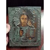 """Икона """"Иисус вседержитель"""", деревенская. под старину"""