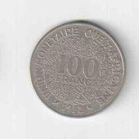 100 франков 1972 года Западная Африка