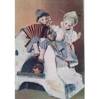 """Вильям М.Н. Персонажи сказки """" По щучьему велению"""". Куклы. 1962 г. Подписана."""