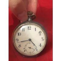 Старинные часы с цепочкой в серебре 800 проба на ходу