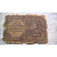 Польша 1000 злотых 1919г. 209625 распродажа