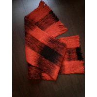 Очень теплый,толстый шарф,шерсть,140*30см.