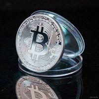 Биткоин Сувенирная памятная монета 40 мм, Bitcoins прекрасный подарок (в капсуле)