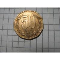 Чили 50 песо 1991г.