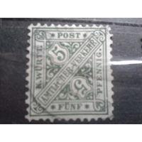 Вюртемберг 1881 Служебная марка
