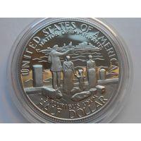 США 50 центов 1986 S эмигранты