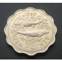 Багамские острова. Багамы. 10 центов. 1969г.