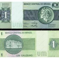 Бразилия  1 крузейро   1980 год  UNC