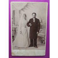 """Кабинет-портрет """"Свадьба"""", до 1917 г., фот. Миранский, Минск"""