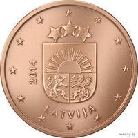 5 евроцентов, Латвия 2014 г., AU