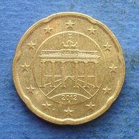 Германия 20 евроцентов 2012 A
