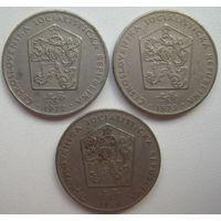 Чехословакия 2 кроны 1972, 1973, 1974 гг. Цена за 1 шт. (v)