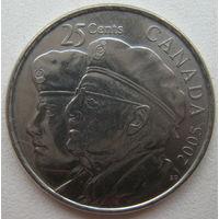 Канада 25 центов 2005 г. Год ветеранов