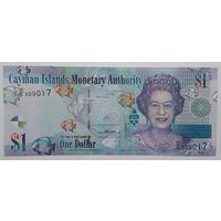Каймановы острова 1 доллар 2014 года UNC.