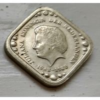 Нидерланды 5 центов, 1980 32 года правления Королевы Юлианы 4-1-10