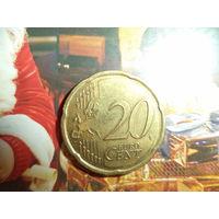 20 ЕВРОЦЕНТОВ 2014 ЛАТВИЯ