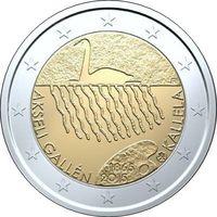 2 евро 2015 Финляндия 150 лет со дня рождения Аксели Галлен-Каллела UNC из ролла