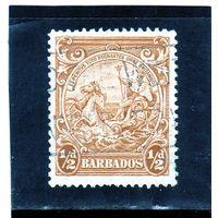 Барбадос. Ми-156. Британника.Печать колонии - средний формат. 1942.