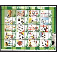 Тайланд-2014,(Мих.)  ** лист ,Спорт, ЧМ-2014 по футболу