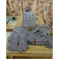 Комплект шапка, шарф, перчатки BROADWAY