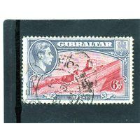 Гибралтар.Ми-112. Мавританский замок и король Георг VI. 1938.