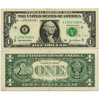 США. 1 доллар (образца 2003 года, 2003A, E, Вирджиния, P515b)