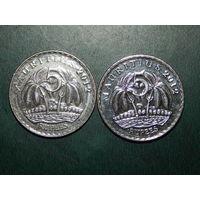 Маврикий 5 рупий 2012 цена за монету
