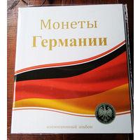 """Альбом-папка для монет """"Монеты Германии"""". Формат Оптима."""