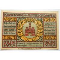 Германия.75 пфеннигов 1921г.