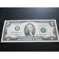 2 доллара США 2009 г., А 04246674 А, VF