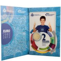 Сан Марино 2 евро 2012, 10 лет евро