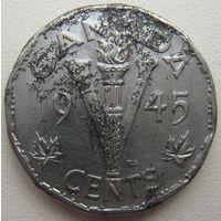 Канада 5 центов 1945 г. (a)