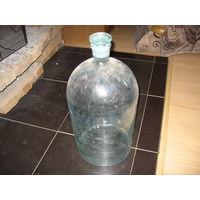 Бутль 25 л, стеклянная для хранения керосина (1930-е годы) со стеклянной пробкой. ОТЛИЧНЫЙ СОХРАН!!!