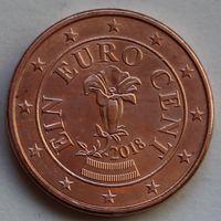 Австрия, 1 евроцент 2018 г