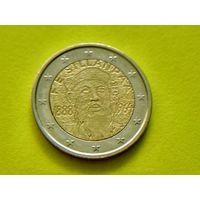Финляндия, 2 евро 2013, биметалл, 125 лет со дня рождения Франса Эмиля Силланпяя