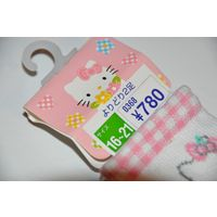 Носки детские Розовые Китти Оригинал Япония Плотные Стретч 16 - 21