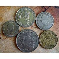 Африка. 5 монет-4 страны 1967-1998 г.