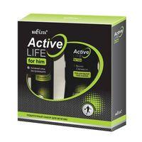 Подарочный набор для мужчин Active Life (гель-шампунь, дезодорант)