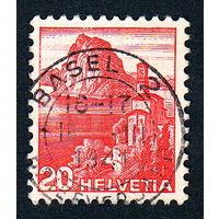 33: Швейцария, почтовая марка, 1936 год, номинал 20с, SG#375A