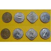 Багамские острова набор 1, 10, 15, 25 цент