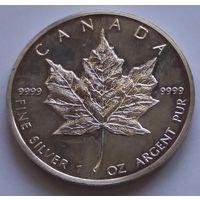 Канада 1988 серебро (1 oz)