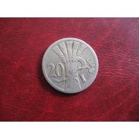 20 геллеров 1926 года Чехословакия