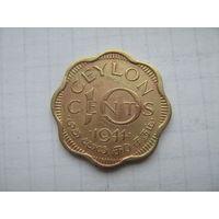 Цейлон 10 центов 1944г.km118