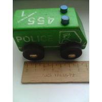 Ретро машинка из СССР из дерева POLICE